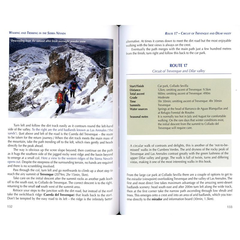 Walking and Trekking in the Sierra Nevada pages