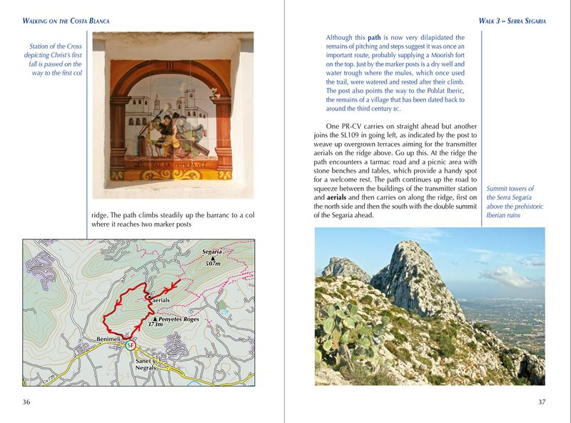 Walking on the Costa Blanca pages