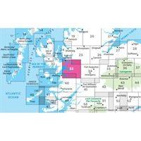 OS Landranger 33 Paper - Loch Alsh, Glen Shiel & Loch Hourn 1:50,000 adjacent