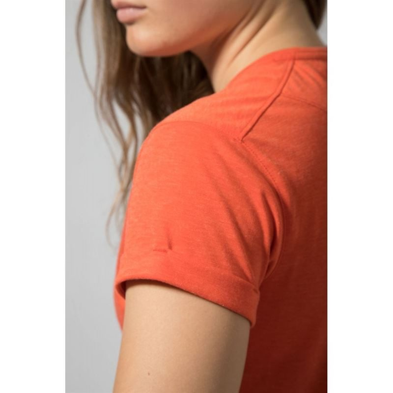 Montane Women's Mono T-Shirt Paprika in use