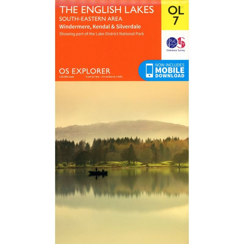 OS OL/Explorer 7 Paper - The English Lakes South-Eastern Area 1:25,000