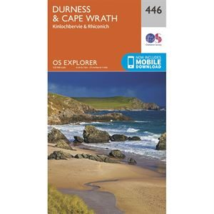 OS Explorer 446 Paper Durness & Cape Wrath 1:25,000