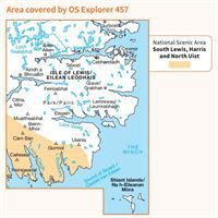 OS Explorer 457 Paper - South East Lewis coverage
