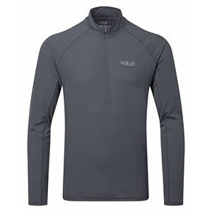 Rab Men's Pulse LS Zip Ebony