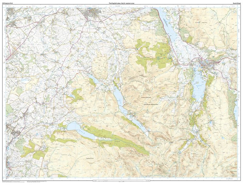 OS OL4 The English Lakes North-Western Area Active south sheet