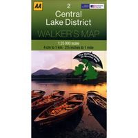 AA/OS Central Lake District 1:25000 Map Laminated