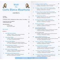 Walk the Costa Blanca Mountains contents