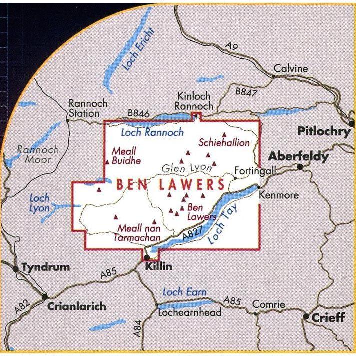 Harvey Ultramap XT40 - Ben Lawers coverage