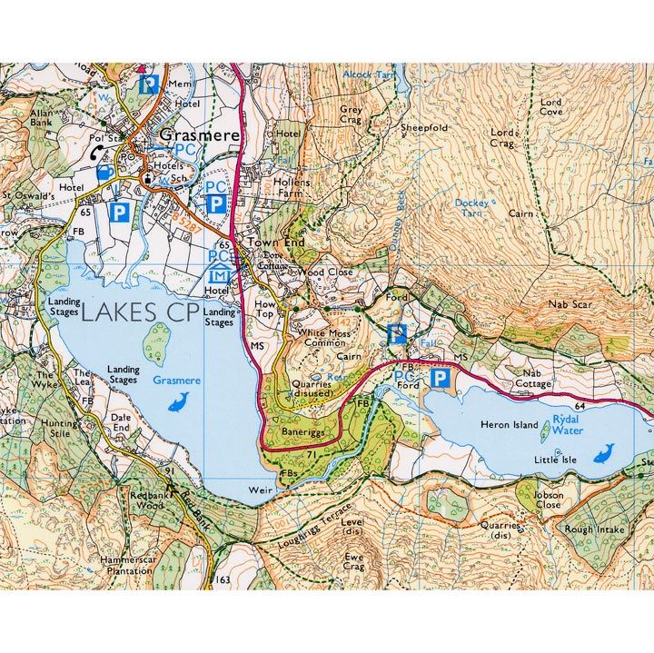 AA/OS Central Lake District 1:25000 sample