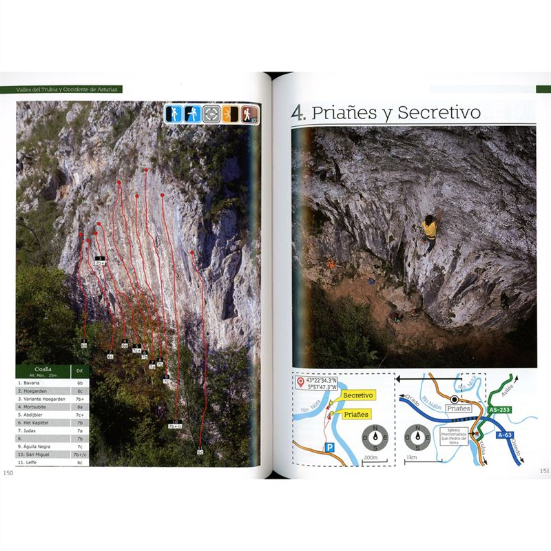 Sport Climbing in Cordillera Cantabrica pages