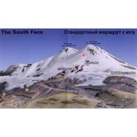 Climbing Map - Elbrus detail