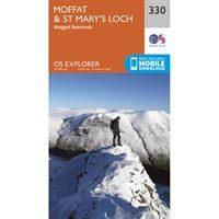 OS Explorer 330 Paper - Moffat & St Mary's Loch