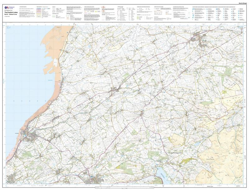 OS OL4 The English Lakes North-Western Area Active north sheet