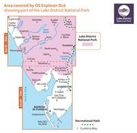 OS OL6 The English Lakes South-Western Area Active coverage