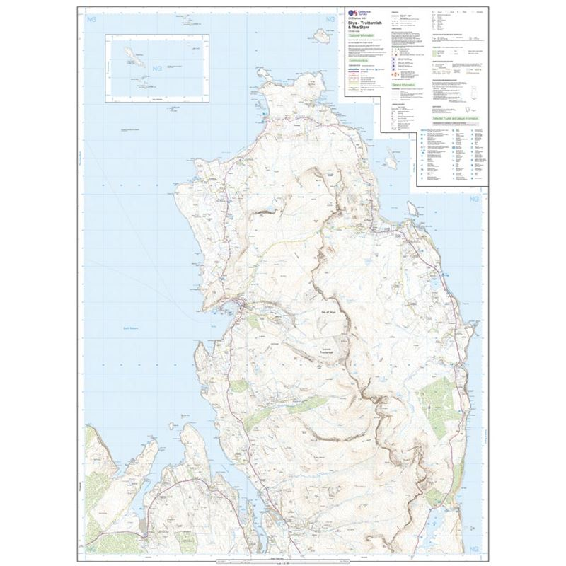 OS Explorer 408 Paper - Skye - Trotternish & The Storr sheet