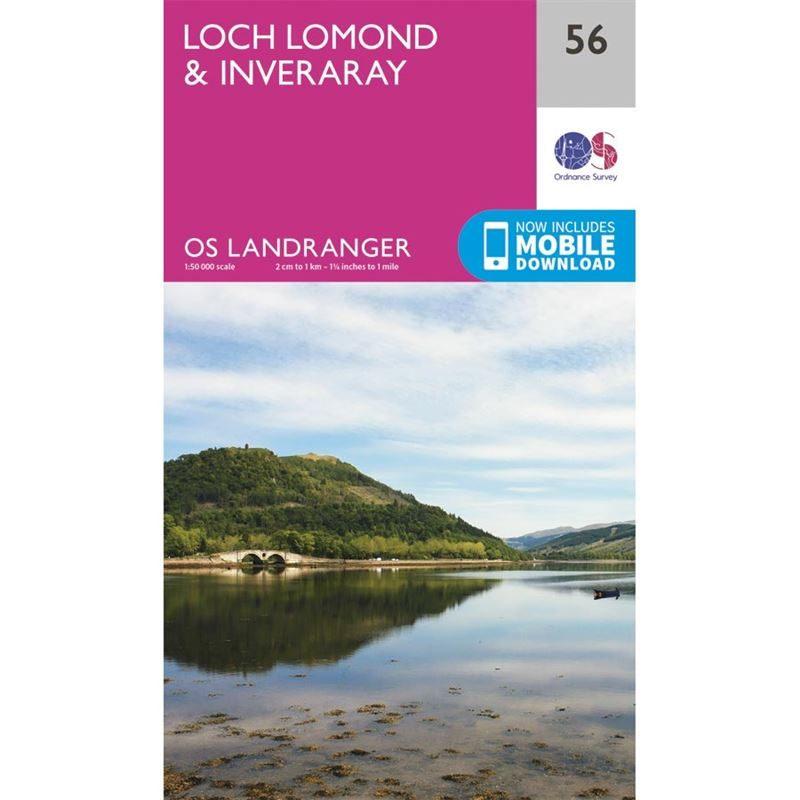 OS Landranger 56 Paper - Loch Lomond & Inveraray