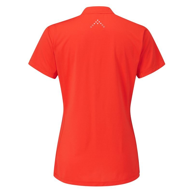 Rab Women's Sonic Short Sleeve Zip Red Grapefruit