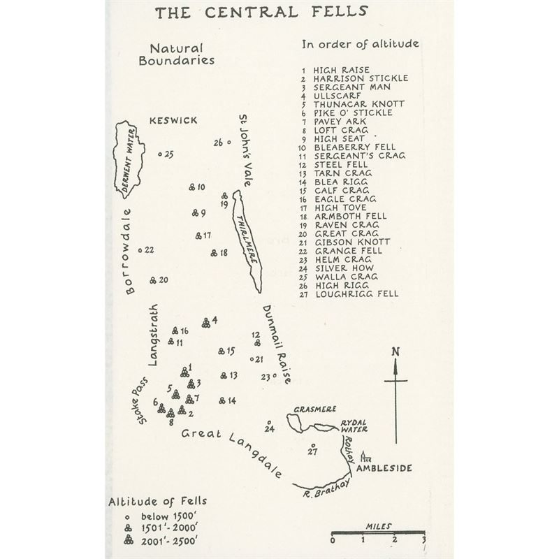 Wainwright - Book 3: The Central Fells coverage