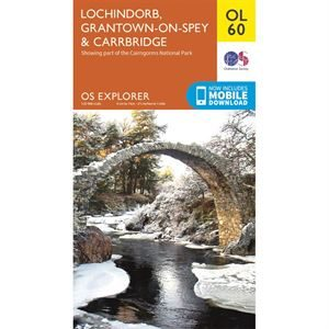 OS OL/Explorer 60 Paper - Lochindorb, Grantown-on-Spey & Carrbridge